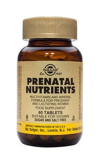 Prenatal nutrients 60 solgar large